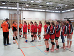 Faustball U14 Play off in der Bezirkssporthalle in Rohrbach
